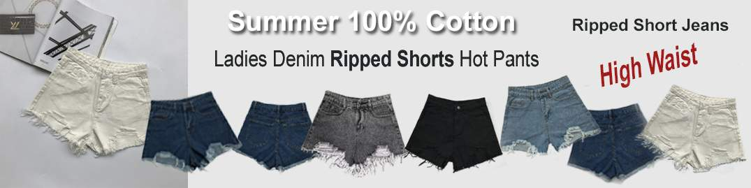 Ladies ripped shorts